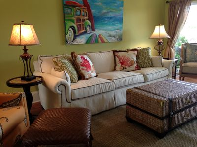 One of two custom designed living rooms