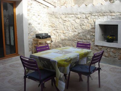 Photo for Village house with terrace in Corbières and close to the sea