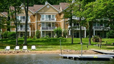 Photo for Lakefront Leisure- Large Lakefront Townhome with Dock