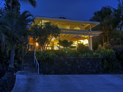 Your beautiful vacation dream home at night!