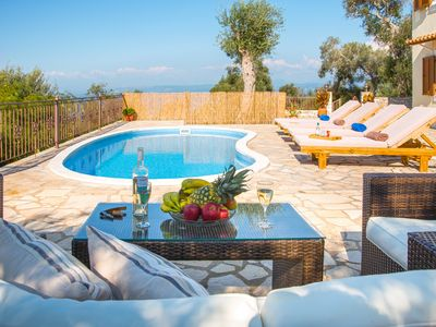 Photo for Isavros, Near Magazia, Paxos (Sleeps 2-4) Villa with a Pool and Sea Views