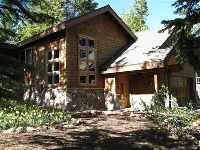 Photo for Spacious and Relaxing Cabin Nestled in a Majestic Pine Forest.