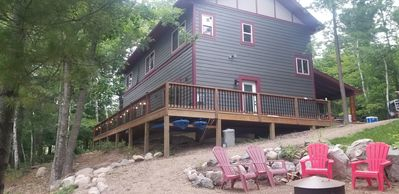 Deck and Firepit - Rental Includes 2 New Paddle Boards
