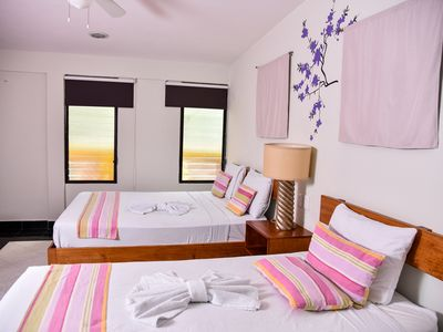 Photo for Hotel Akumal, Pink triple room