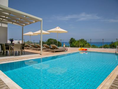 Photo for Spacious 4-Bedroom Sea Front Villa with Private Pool – Breakfast   Non Refundable