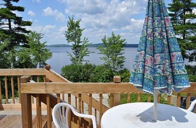 Photo for Vacation Lodge on a  beautiful 200 ft. private sand beach on Molasses Pond