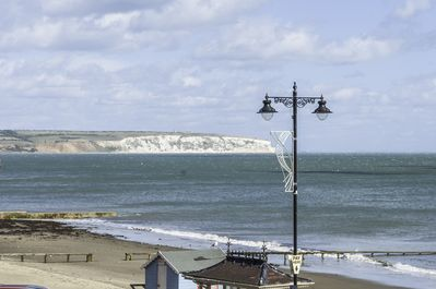 With good sea views, the apartment is great for walks on the promenade and beach