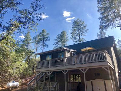 Photo for ***Modern, Cozy Cabin (3BR + Loft) w/ Private Bridge!***