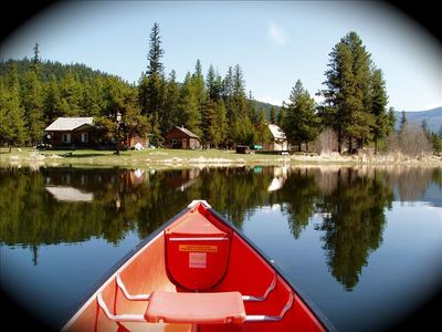 Photo for 220 Acres with 3 Cabins, a Private Lake & River to Float/Fish