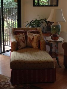 Custom designed furniture for the Garden House and your comfort.