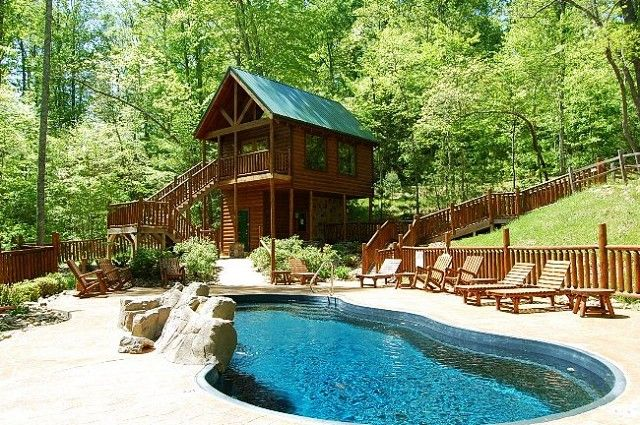 for rent with pool rentals cabin pools gatlinburg pet private access by cabins owner friendly