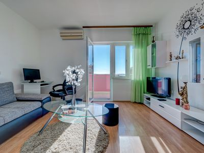 Photo for Cozy Sea View Apartment Marinely with big garden and BBQ