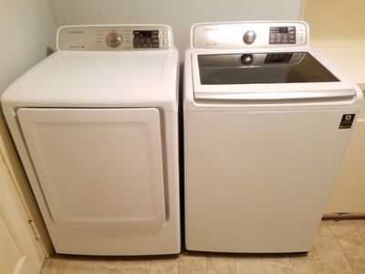 Larger washer and dryer in the home