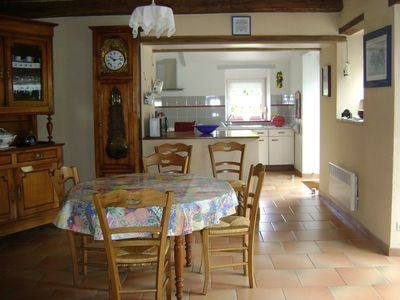 Photo for pretty renovated farmhouse near Concarneau, in the quiet large garden