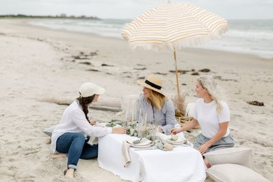 Our have our design team prepare a special picnic for you on the beach