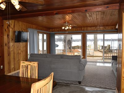 Photo for Lake Odessa Beach Cottage, Lakefront, Huge Deck, Sleeps up to 8
