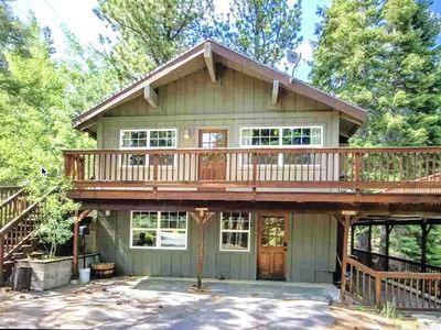 Photo for Lovely Private Cabin on Nearly Acre Lot with Hot Tub