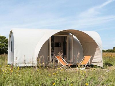 Photo for Camping *** Cendrée Seagull - Bungalow Coco Toilé 3 Rooms 4 People