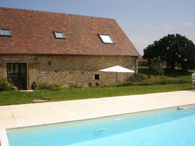 Photo for Charming house surrounded by fields with beautiful pool in the high-Quercy