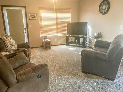 Living room with recliners and loveseat