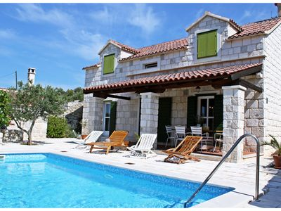 Photo for Beautiful 3 Bedroom Old Dalmatian Stone House With Private Pool