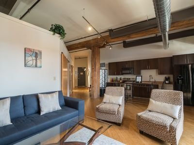 Photo for Walk to Honky Tonks! Downtown Nashville Loft 50-70% off M-W! Fancy, Sleeps 4 Nashville Vacation Rentals by MusicCityLoft on VRBO