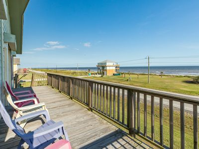 Photo for Dog-friendly beach house w/ covered mezzanine, oceanfront views, & beach access