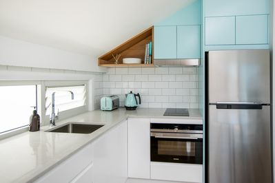 Cooks Hill Parkside - Kitchen ready for your stay.