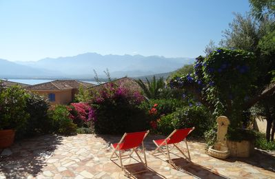 Photo for Charming T2 with 50m2 terrace and garden, bay and mountain views