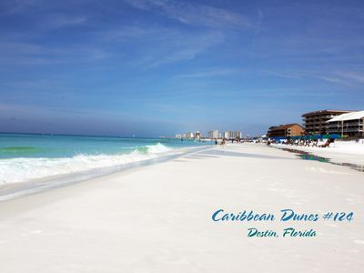 Photo for Four seasons style remodel at Caribbean Dunes #124, 550 ft. Walk to the beach.