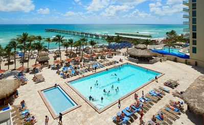 Photo for BEACH ESCAPE! 2BR SUITE FOR 6, POOL