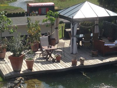 Photo for Apartment in the Sauerland, near Sorpesee, terrace, swimming pond and garden w. play equipment