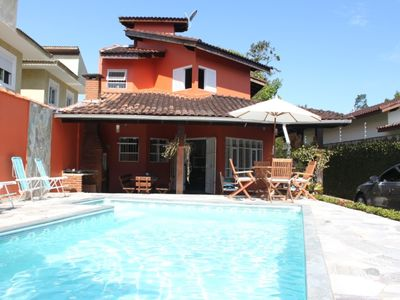Photo for JUKEHY! Best beach in SP Wonderful home with pool, gourmet balcony and AC