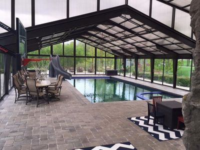 Photo for Year Round Heated Indoor Pool Room With Heated Pool, Hot Tub, And Water Slide!
