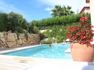Photo for Villa Antibes 3 quiet rooms with swimming pool