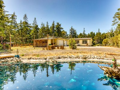 Photo for NEW LISTING! Peaceful and secluded dog-friendly home near the beach!