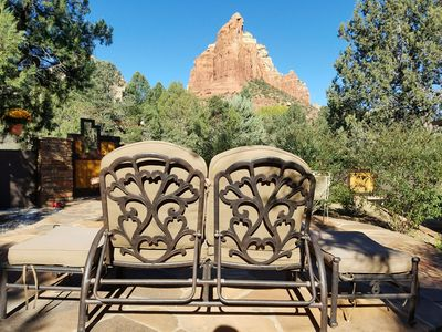 Relax on the private patio and enjoy amazing red rock views!