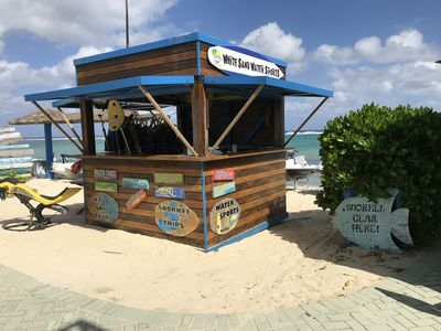 Get your beach/play toys here!  Ocean Frontiers also on site for your dive trips