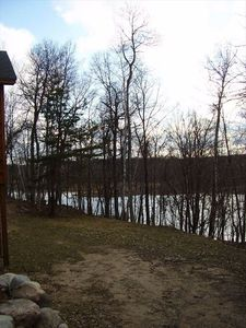View from backyard to lake channel between Gull and Upper Gull