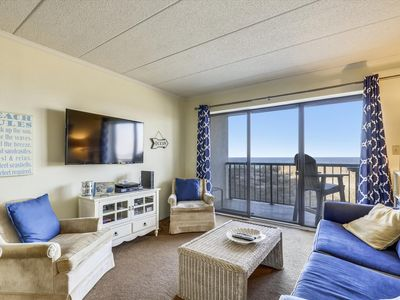 Photo for Cute Oceanfront Condo - FREE Linens, Wi-Fi, Ocean Views - 8 Blocks to Boardwalk!