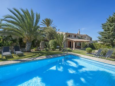 Photo for MALLORCAN STYLE VILLA CAN XANET GRAN WITH PRIVATE POOL VERY QUIET AREA