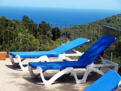 Photo for Begur-fantastic holiday villa - large private pool & direct sea views-slps 9-10