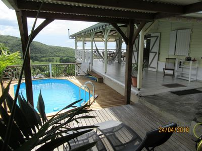 Photo for Pretty Creole villa, view on sea and countryside