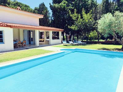 Photo for Luxury Villa sleeps 6-8 with Pool (July 2018) & Sea Views close  to beach & mari