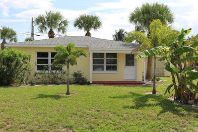 Exterior of Starfish Cottage - 2nd house from South Beach Oceanfront Park