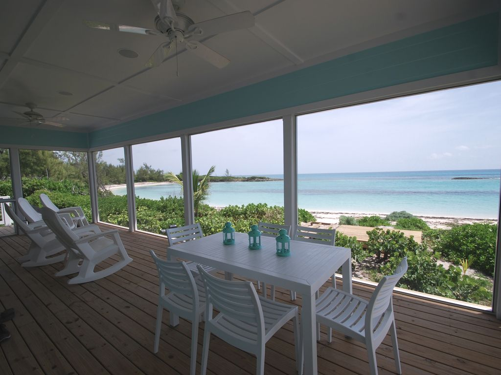 House rentals green turtle cay - View From Screened Porch