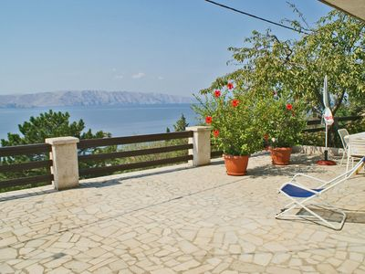 Photo for Holiday apartment 350 m from the beach, sea view