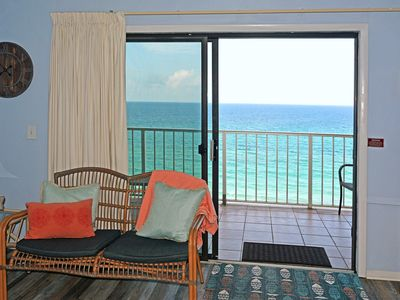 Photo for 10% DISCOUNTED nights through August! BEACHFRONT! Unit1114 Balcony Beach View