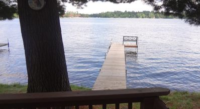 Photo for Lake front Cabin - Private dock