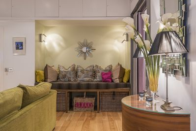 EXQUISITE DESIGN, DECOR & FURNISHINGS.  Central Air Con for hot days.